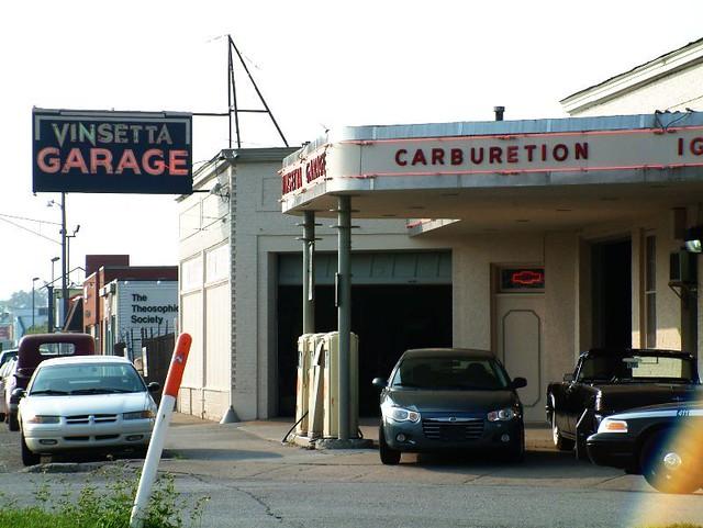 Vinsetta Garage on Woodward in Berkley  opened 1919