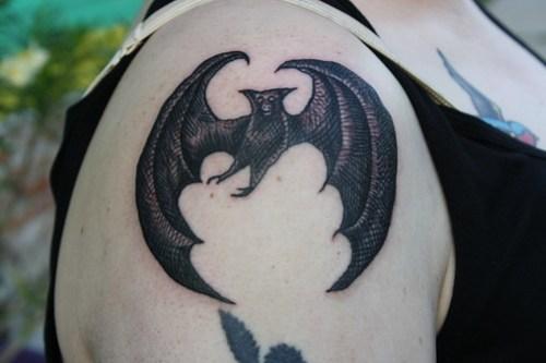 edward gorey bat tattoo