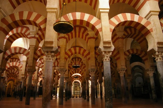 Beautifully resorted archways of the Great Mosque