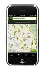 image of map on iPhone - not to be confused with Google Apps IMAP