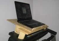 Treadmill with laptop holder close-up | Close up of the ...