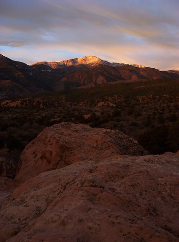 Pikes Peak at Sunrise, Garden of the Gods by MeatFireGood
