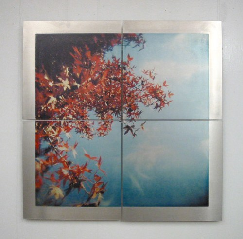Red above - Image transfer on aluminum