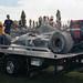 1991 Canadian Grand Prix Aguri Suzuki's Larousse on the trailer