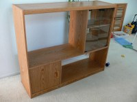 TV/Entertainment Center Glass Door Shelf $20 | Flickr ...