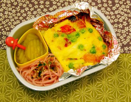 Spanish omelette bento