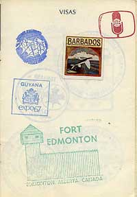 Expo 67 passport pavillion visa stamps by gnawledge wurker