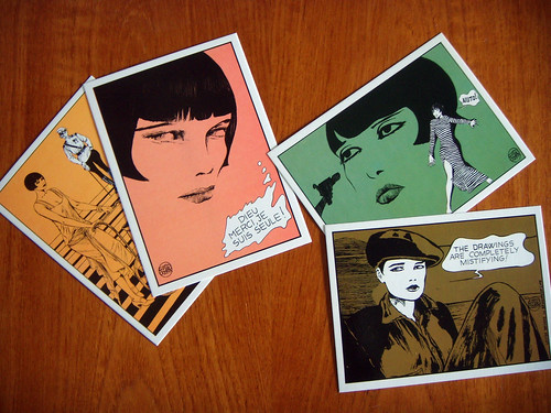 Rare postcards of some of Guido Crepax's homages to Louise