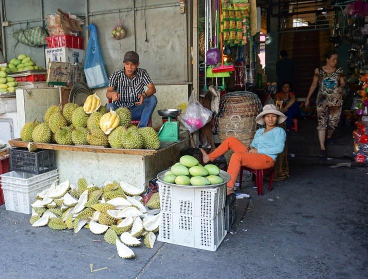 Durian. Saigon Street Eats Tour. Ho Chi Minh City, Vietnam, April 2016