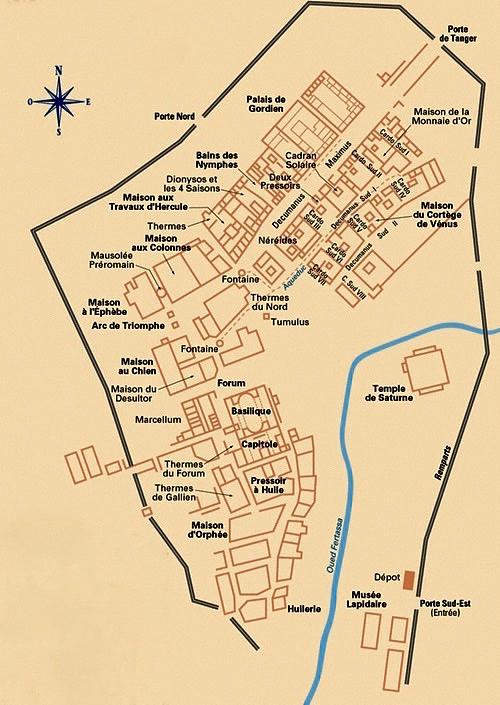 Mapa de Volubilis