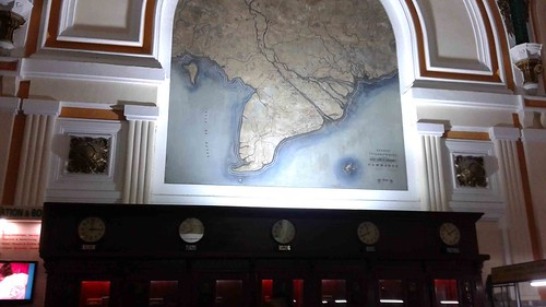 Old Map in the HCM Post Office