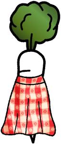 gulerod med nederdel