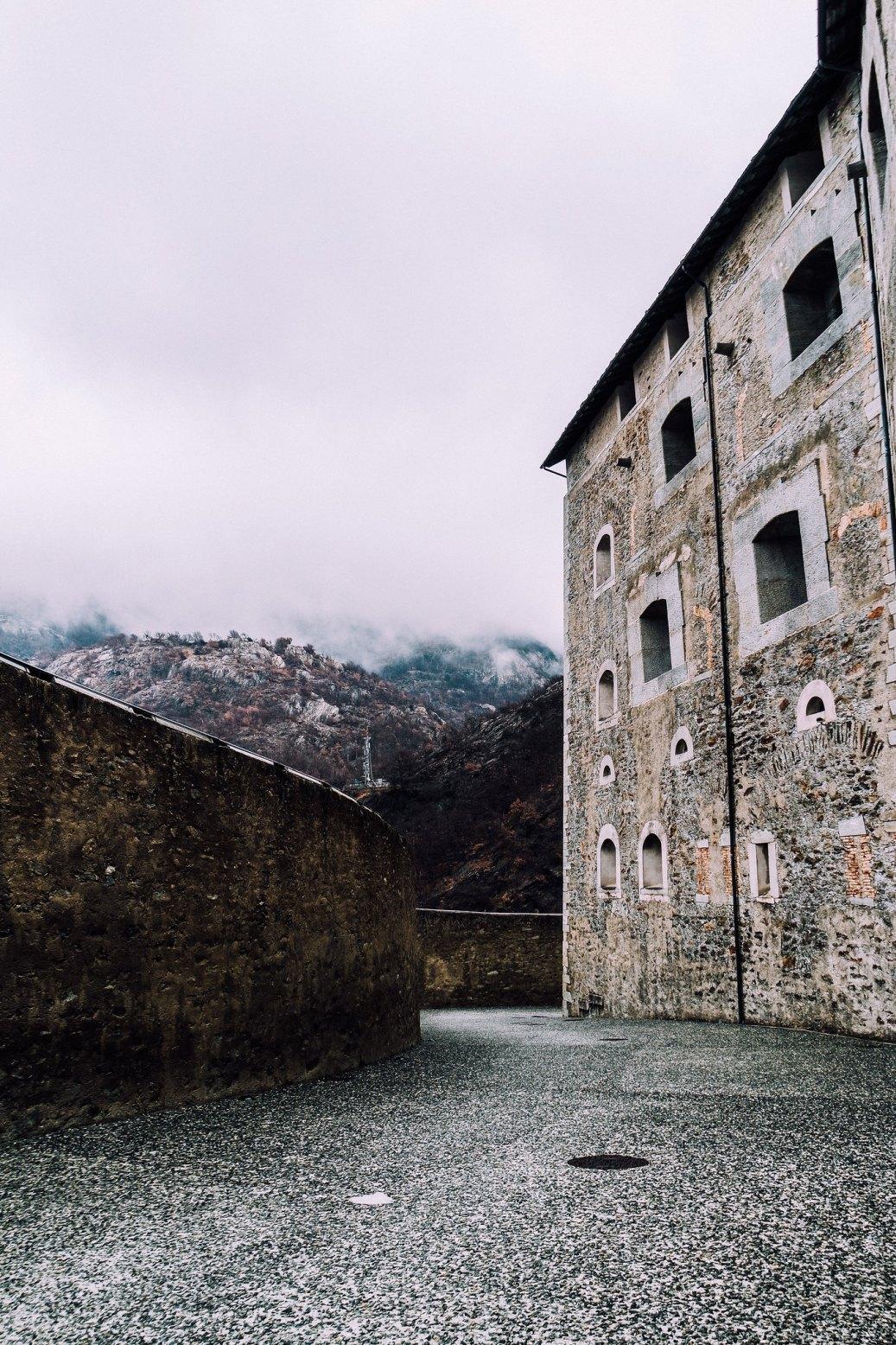 Esterno del Forte di Bard
