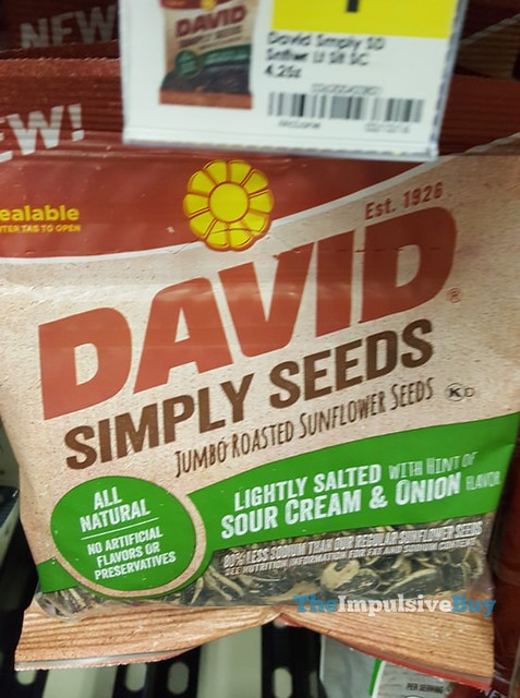 David Simply Seed Sour Cream & Onion