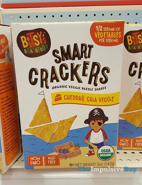 Bitsy's Brainfood Cheddar Chia Veggie Smart Crackers