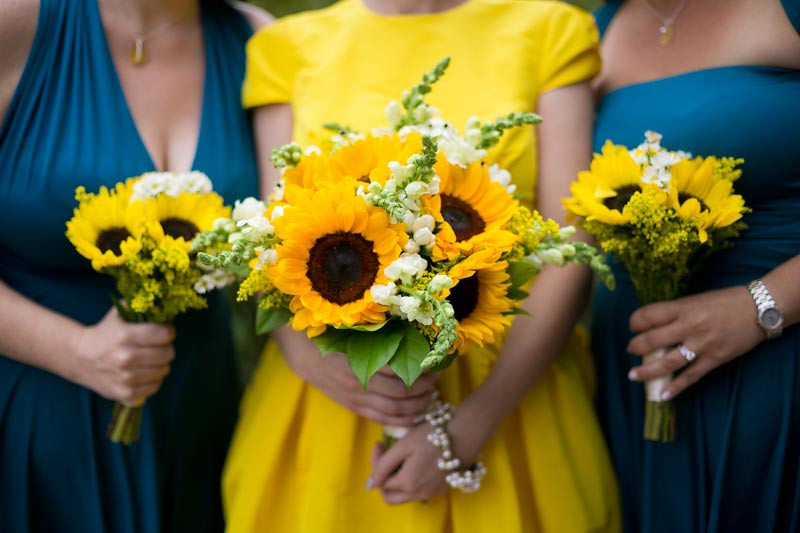 NYC park wedding with a yellow dress as seen on @offbeatbride #weddings #yellowdress