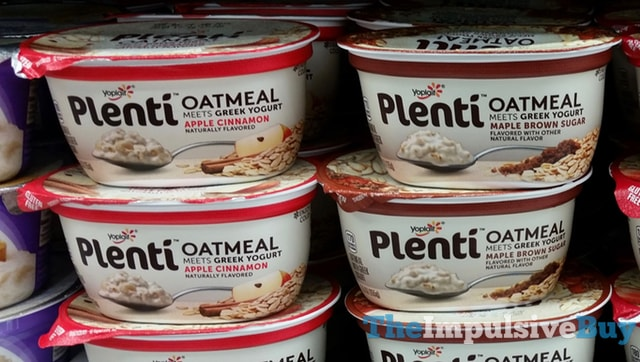 Yoplait Plenti Oatmeal (Apple Cinnamon and Maple Brown Sugar)