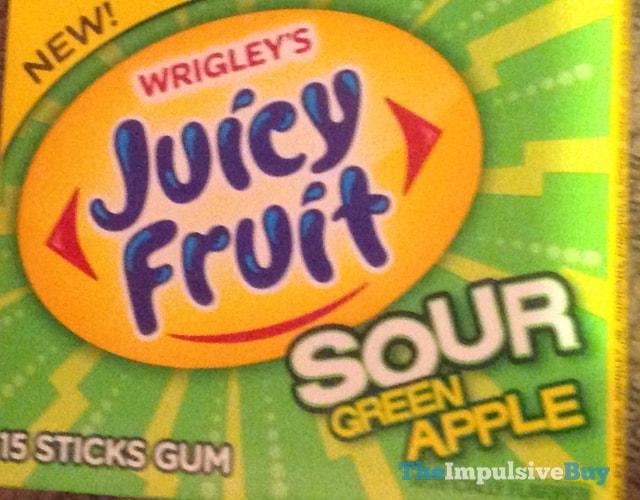 Wrigley's Juicy Fruit Sour Green Apple Gum