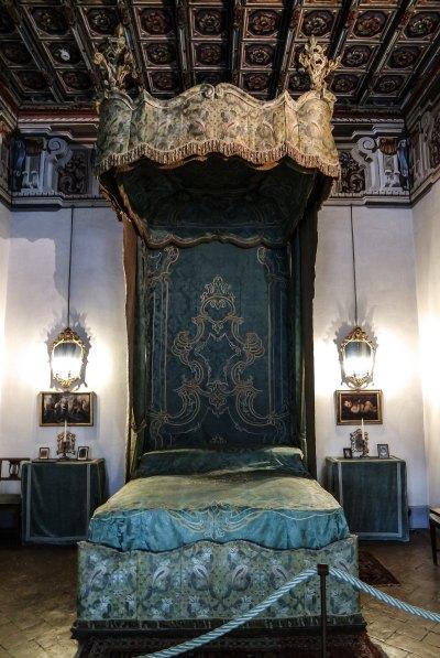 Camera del letto verde