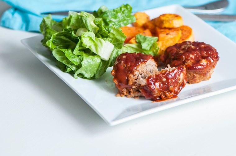 BBQ Turkey Meatloaf Muffins 1