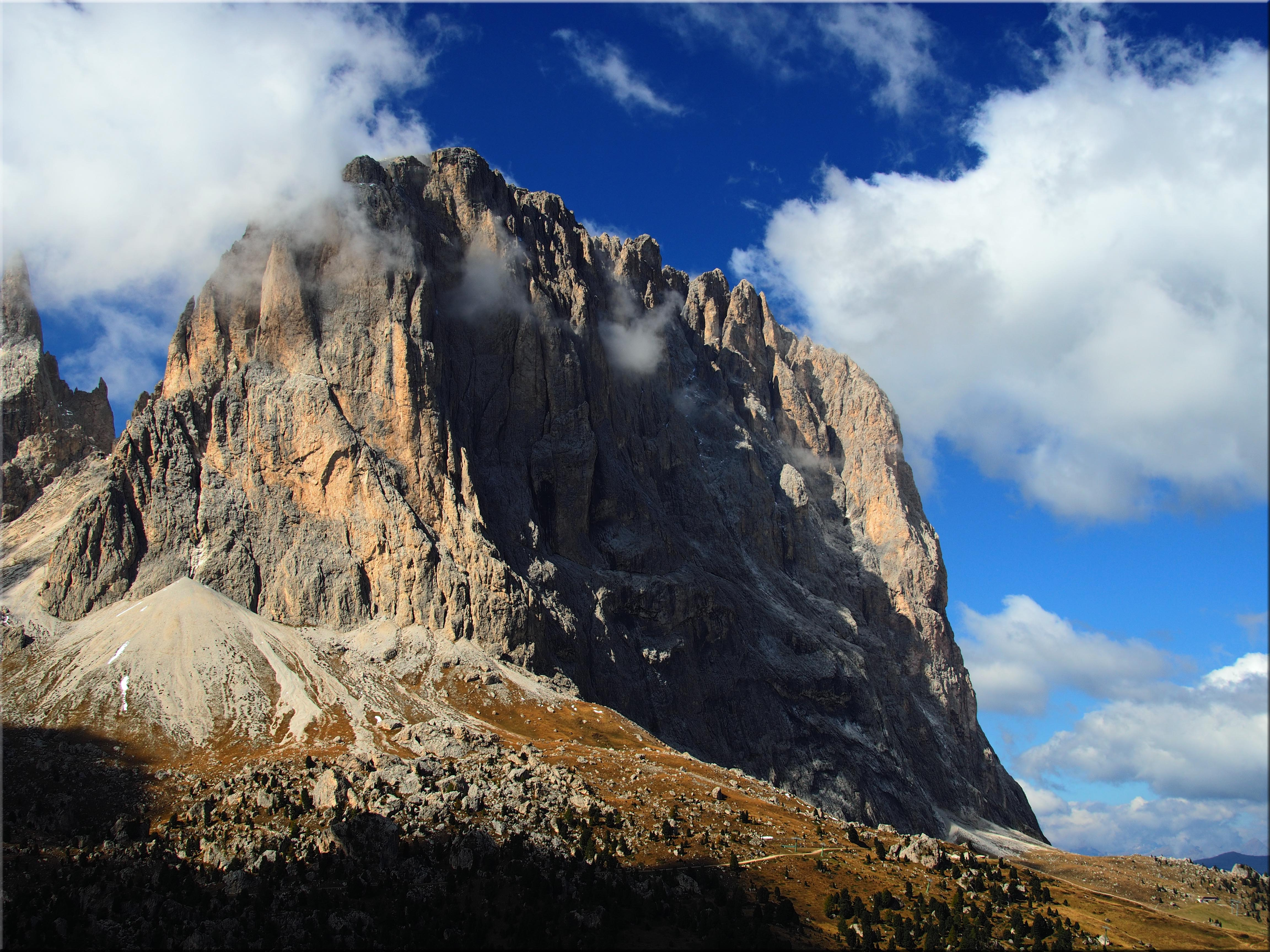 Elevation of Langkofel Santa Cristina Gherdina Province