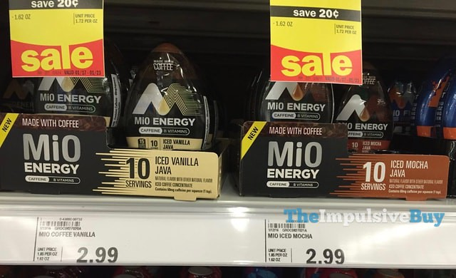 MiO Energy Ice Vanilla Java and Iced Mocha Java