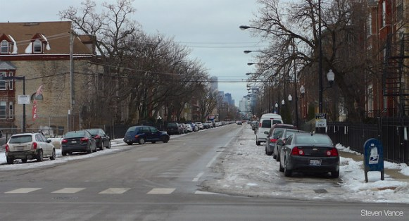 Warren Boulevard bike lane wasn't plowed