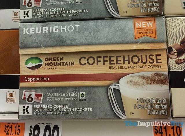 Green Mountain Coffee Coffeehouse Cappuccino