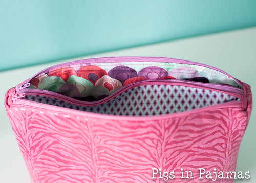 Sew Sweetness Filigree Double Zip Pouch