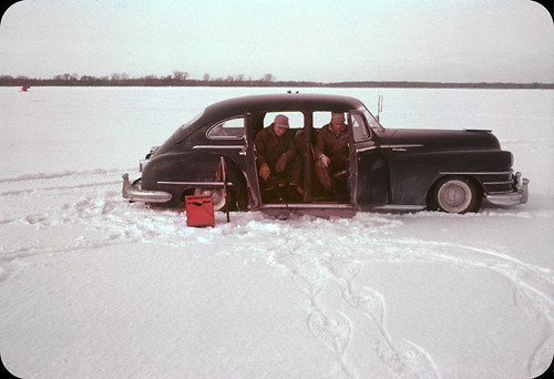Ice Fishing from the '46 Chrysler New Yorker