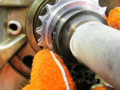 Crankshaft Sprocket Aligned on Woodruff Key