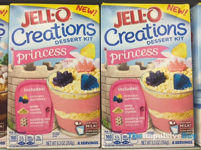 Jell-o Creations Princess Cups Dessert Kit