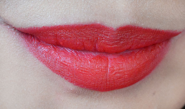 14 Maybelline Creamy Matte Siren in Scarlet Lipsticks Review Swatches - Gen-zel.com (c)
