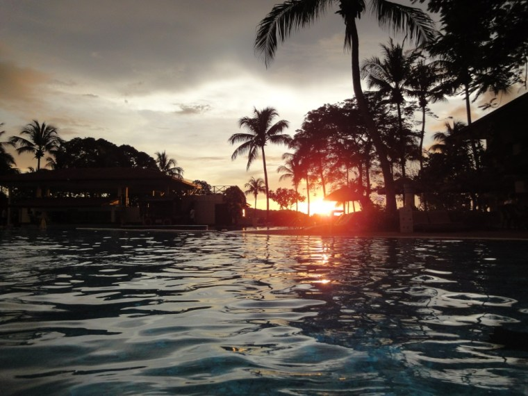 Swimming Pool at Sunset, Holiday Villa, Langkawi