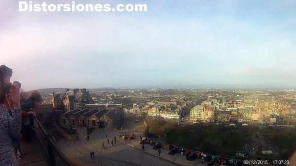 Castillo de Edimburgo y ciudad