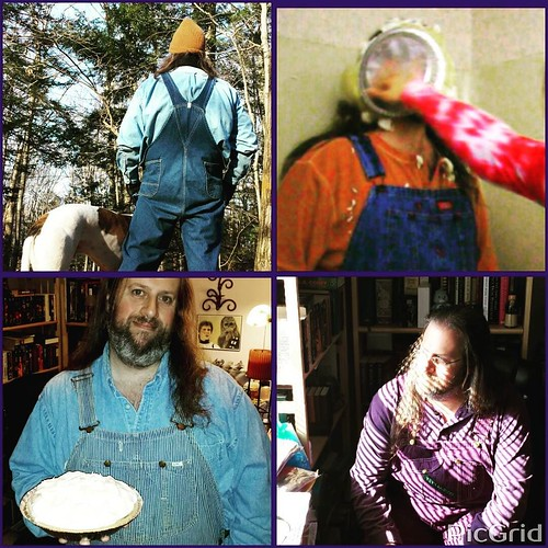 Day 10 of #AuthorLifeMonth: Non-author photo(s)! I couldn't pick just one, so here are a few. Featuring overalls and pies, of course.