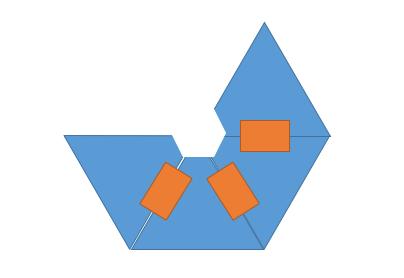 ติดแผ่นใสเข้าด้วยกันแบบนี้ครับ (สีส้มๆ คือ สก็อตเทป หุหุ)