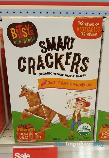 Bitsy's Brainfood Sweet Potato Cinna-Graham Smart Crackers