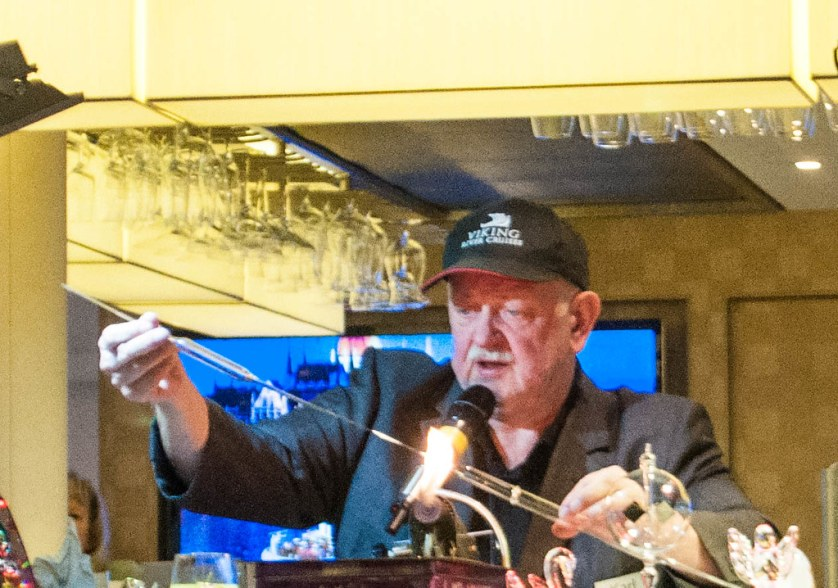 Karl Ittig, Glassblower - Shore Excursion to Wertheim - Heart of Germany Christmas Market Cruise with Viking River Cruises, Dec. 2015