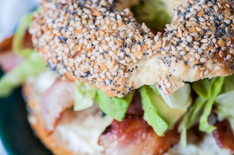 BLT Bagel Sandwich 7