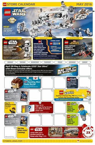 Store Calendar US mai 2016