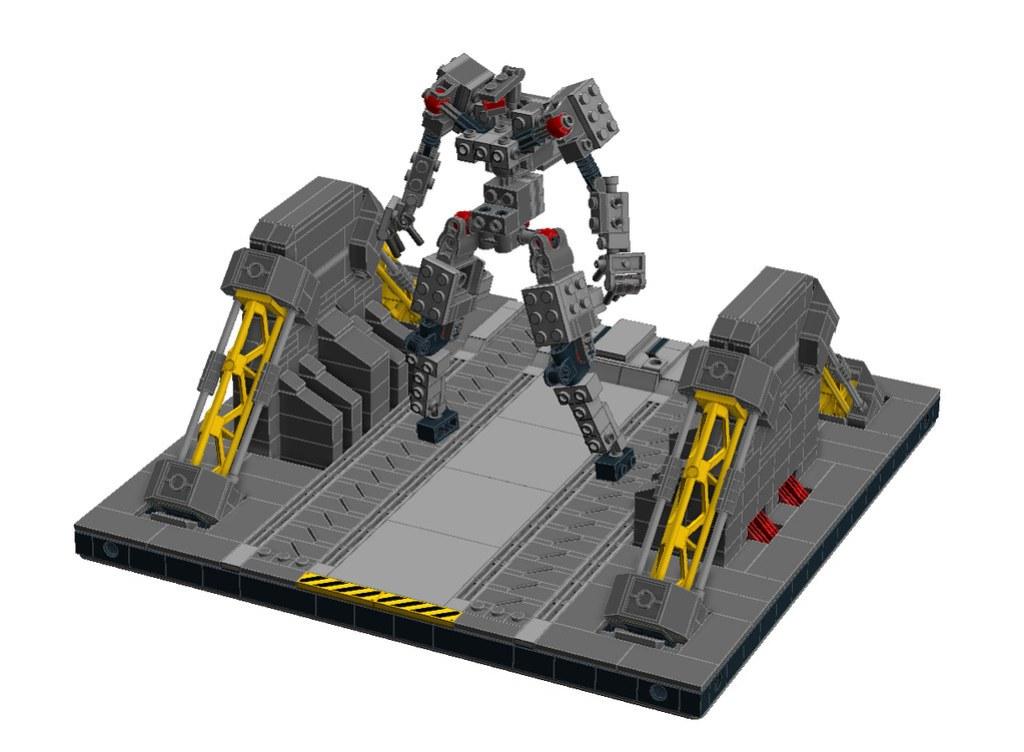 Modular Mech Hangar A LDD test build