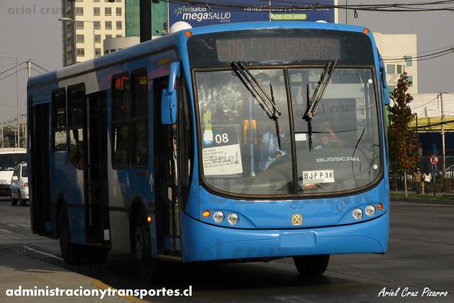 Transantiago - Unitran - Busscar Urbanuss Pluss / Mercedes Benz (BJFP38)