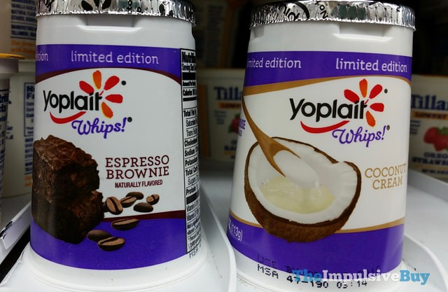 Limited Edition Yoplait Whips Espresso Brownie and Coconut Creme Yogurt