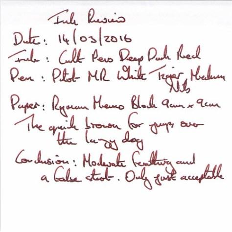 Cult Pens Deep Dark Red - Ryman Memo