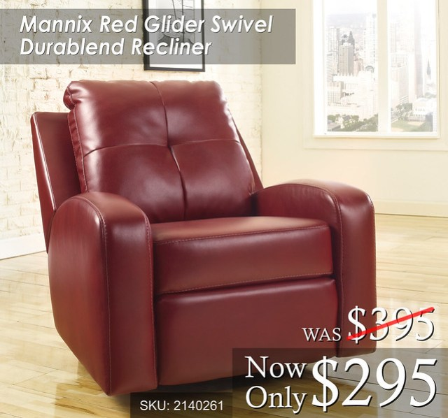 Mannix Red Recliner
