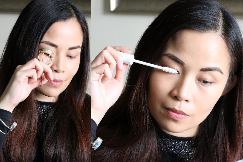 curl lashes, apply lash serum