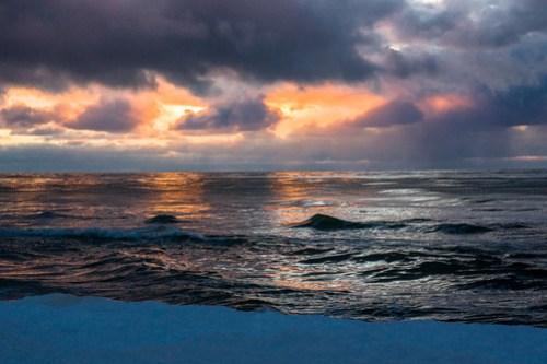 Žiemiškas saulėlydis