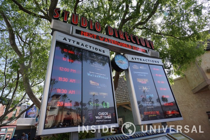 Photo Update: March 20, 2016 - Universal Studios Hollywood - Digital Display Board