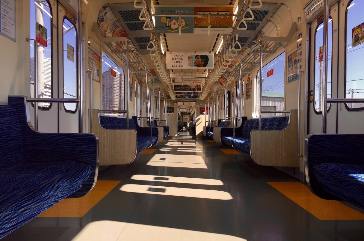 Rinkai Line empty trains